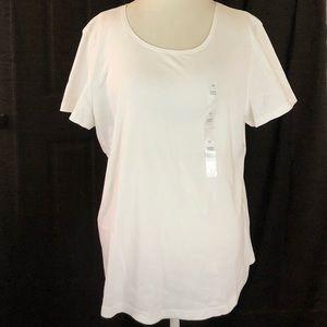 🆕 Karen Scott Classic Bright White T-Shirt